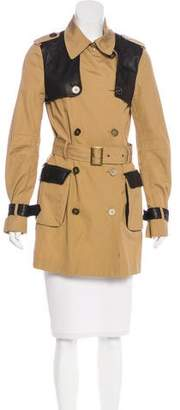 Rebecca Minkoff Leather-Accented Trench Coat