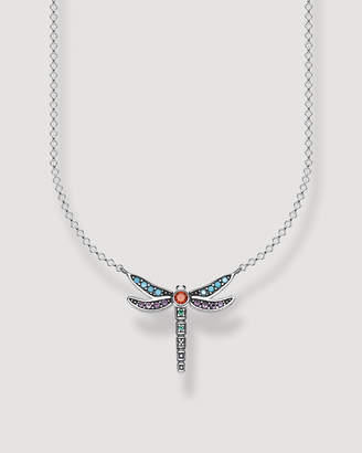 Thomas Sabo Paradise Colours Small Dragonfly Silver Necklace