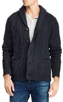 Polo Ralph Lauren Wool& Cashmere Cable-Knit Cardigan