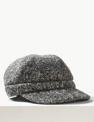 M&S Collection Textured Baker Boy Hat