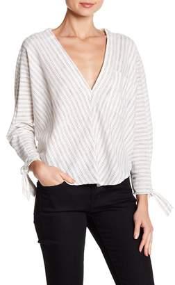 FAVLUX Tie Sleeve Striped Blouse