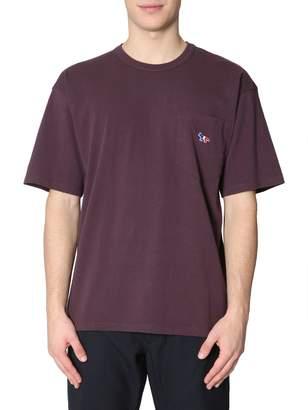 MAISON KITSUNÉ T-shirt With Fox Tricolour Patch