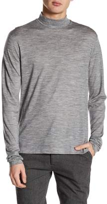 Theory Mock Neck Thumbhole Wool T-Shirt