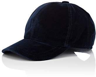 Barneys New York Men's Cotton Velvet Baseball Cap