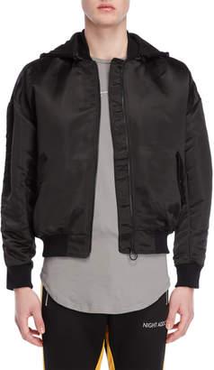 Night Addict Removable Hood Bomber Jacket