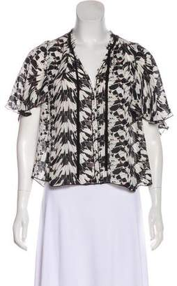 LoveShackFancy Silk Printed Top