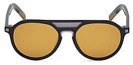Ermenegildo Zegna Men's 55MM Aviator Sunglasses