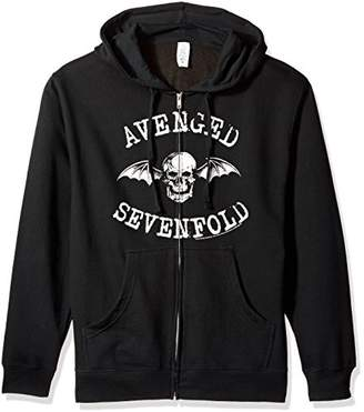 FEA Men's Avenged Sevenfold Death Bat Zip Hoodie