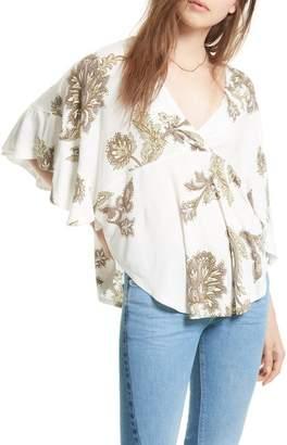Urban Outfitters Maui Wowie Palm Print Shirt