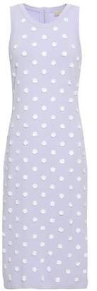 MICHAEL Michael Kors Floral-appliqued Stretch-knit Dress
