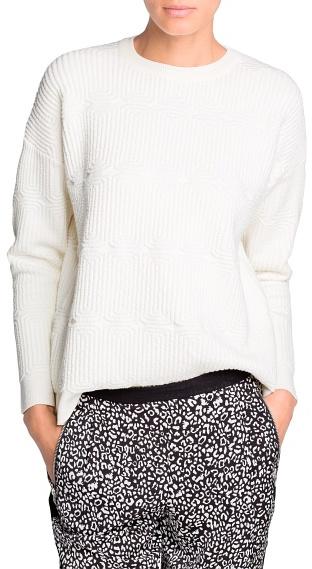 MANGO Outlet Cotton-Blend Jacquard Sweater