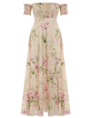 Zimmermann Iris Shirred Bodice Long Dress