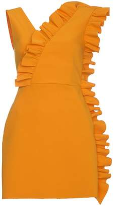 MSGM fitted sleeveless ruffle dress