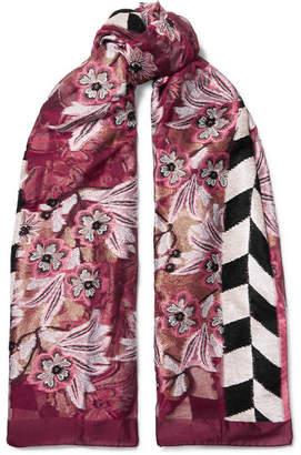 Etro Devoré-jacquard Wrap - Pink