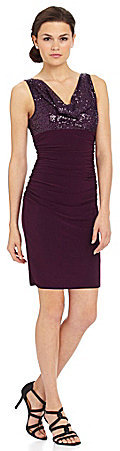Night Way Rouched Sequin Dress