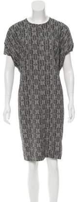 Calvin Klein Collection Gradient Printed Silk Dress