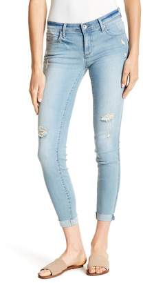 Tractr Distressed Cuffed Ankle Skinny Jeans