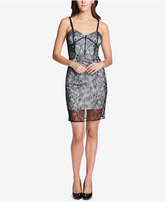 GUESS Lace Bustier Sheath Dress