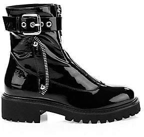 Giuseppe Zanotti Women's Patent Leather Combat Boots