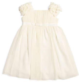 Little Girls Flutter Cap Sleeve Chiffon Flower Girl Dress
