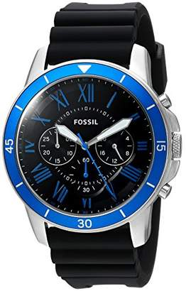 Fossil Men's 'Grant Sport' Quartz Stainless Steel and Silicone Casual Watch