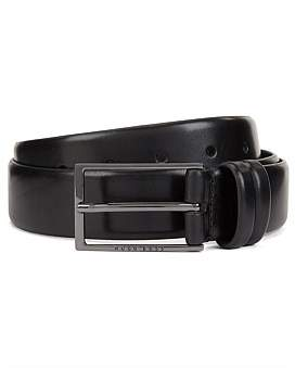 HUGO BOSS Two-Tone Belt In Vegetable-Tanned Leather