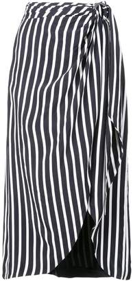 Jonathan Simkhai striped midi skirt