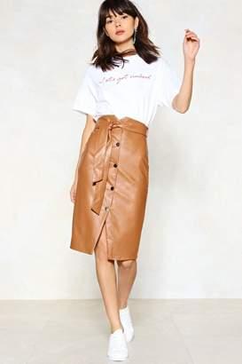 Nasty Gal Snap to It Vegan Leather Skirt