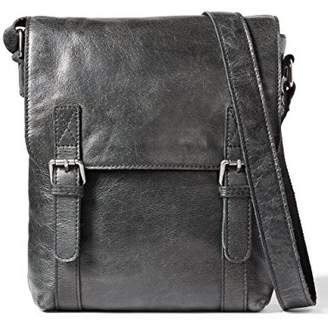 Leather Architect Men's 100% Leather Cross Over Messenger Bag