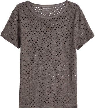 Majestic Linen Eyelet T-Shirt