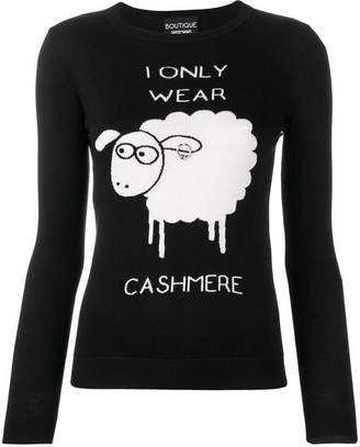 Moschino 'I only wear cashmere' jumper