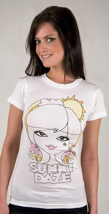 Junk Food Sunny Daze Tee in Electric White