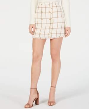 Monroe Leyden Printed Mini Skirt