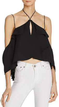 Olivaceous Halter-Inspired Georgette Top - 100% Exclusive $62 thestylecure.com