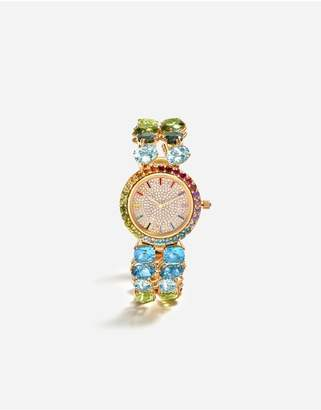 Dolce & Gabbana Watch With Multi-Colored Gems