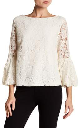 Laundry by Shelli Segal Bell Sleeve Lace Blouse