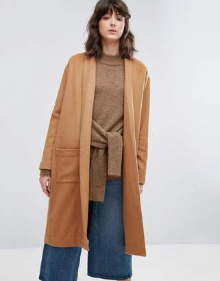 Weekday Thrown On Knit Coat $119 thestylecure.com