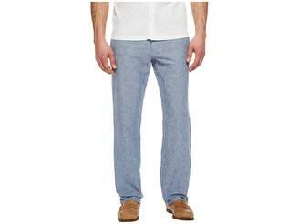 Perry Ellis Linen Cotton Drawstring Pants