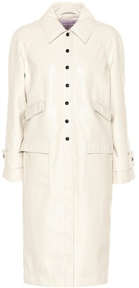 ALEXACHUNG Faux leather coat