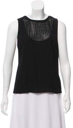 A.L.C. Sleeveless Eyelet Blouse