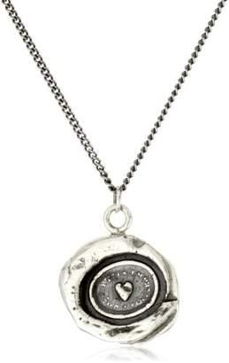 "Pyrrha talisman"" Sterling Heart Print Necklace"