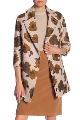 Paul & Joe Sister Melchior Floral Print Tweed Coat
