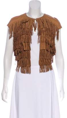 Drome Leather Fringe Top w/ Tags