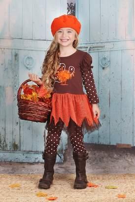 Mia Belle Girls Long Polka Dot Tunic & Polka Dot Legging Set (Toddler & Little Girls)