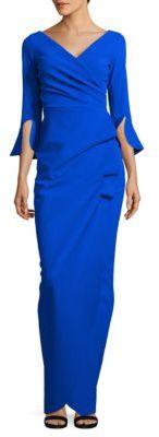 La Petite Robe di Chiara Boni Zalfa Wrap-Front Gown $995 thestylecure.com