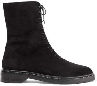 The Row Fara Suede Ankle Boots - Black