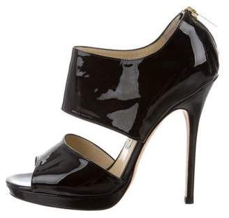 Jimmy Choo Peep-Toe Cutout Booties