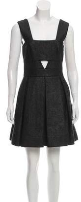 Robert Rodriguez Weave Knit Pleated Dress