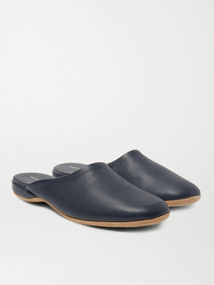 Derek Rose Morgan Leather Slippers - Men - Blue
