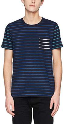 Brooks Brothers Men's 100096764-465 T-Shirt, (Open Blue 465), Small